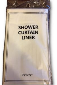 Custom Shower Curtain Liner- White