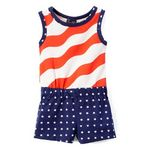 Custom Girls Knit Romper - USA