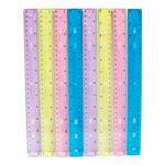 Custom Plastic Rulers - 12 - Assorted Colors