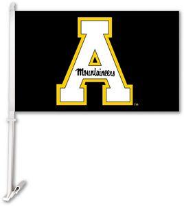 Custom Appalachian State Car Flag withWall Brackett