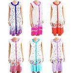 Custom Women's Button Up Sleeveless Print Nightgowns - Sizes M-3XL