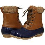 Custom Women's Water Resistant Duck Boots - Navy/Tan
