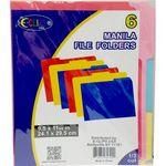 Custom 6ct Manila File Folders - Asst. Colors