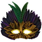 Custom Mardi Gras Feathered Mask