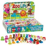 Geddes Zoo Life 3D Eraser - 288 Count, Individual, Display included (C