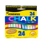Chalk - Assorted Colors - 3 sticks - 24/box. (Case of 48)