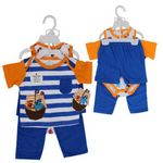 Custom Little Beginnings 4-Piece Boys' Pant And Short Set