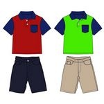 Custom Infant Boy's Shorts & Polo Shirt Set
