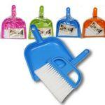 Custom Plastic Dustpan with Brush - Assorted
