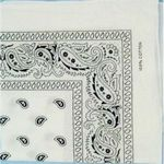 Bandana/Doo Rag White Color (Case of 24)