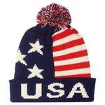 Custom USA Flag Winter Knitted Hat