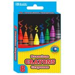 Bazic Crayons - 8 Count (Case of 48)