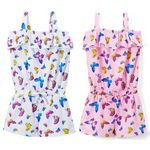 Custom Toddler Girl's Butterfly Print Knit Rompers - Size 2-4T