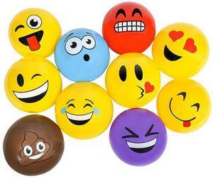 Custom 5 Assorted color emoji vinyl balls