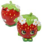 Custom Ceramic Shopkins Strawberry Money Bank