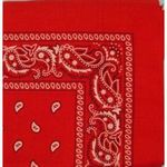 Red Square Bandanas (Case of 24)