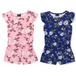 Custom Infant Girl's Floral Print Knit Rompers - Size 12-24M