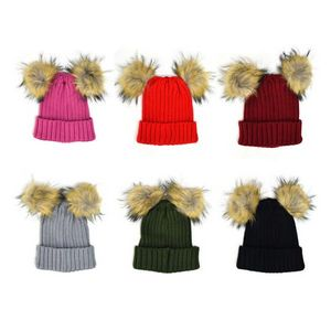 93e622666d4 Women s Beanies with Faux Fur Pom Poms - 2283122 - IdeaStage Promotional  Products