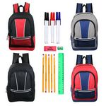 Custom 17 Sport Backpacks with 15-Piece School Kit