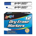 Custom Broadline Chisel Tip Low Odor Dry Erase Markers - Blue