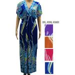 Custom V-Neck Plus Size Women's Print Maxi Dresses