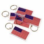 Custom American Flag Key Chains