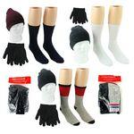 Custom Assorted Adult Winter Hat, Gloves & Socks (Case of 40)
