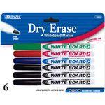 Custom BAZIC 6 Assorted Color Fine Tip Dry-Erase Marker