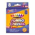 Custom 8 Pack Jumbo Crayons - Assorted Colors - PDQ