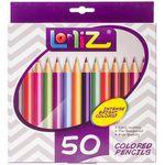 Custom LolliZ Colored Pencils 50/Pkg-Assorted Colors