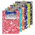 Custom BAZIC Standard Size Floral Paperboard Clipboard w/ Low Profile Clip