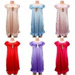 Custom Women Pajama Night Gown Short Sleeve Assorted Colo