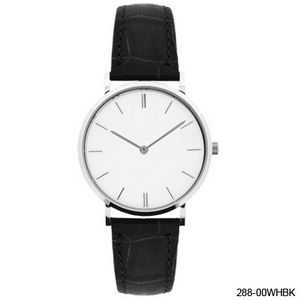 Lissome Silver Watch (White) Men's