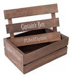 Custom Slatted Lidded Wood Crate