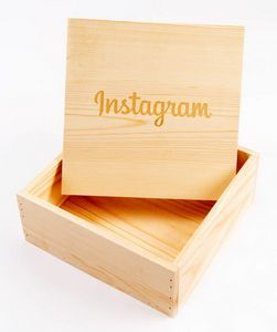 Square Solid Wood Crate