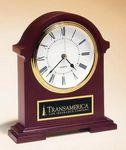 Custom Mahogany Clock Award 7 1/2