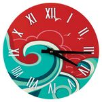 Custom Full Color Round Wall Clock, 8.125