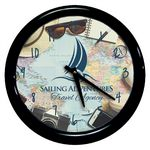 Custom Full Color Round Wall Clock with Black Frame and Lens, 8.125