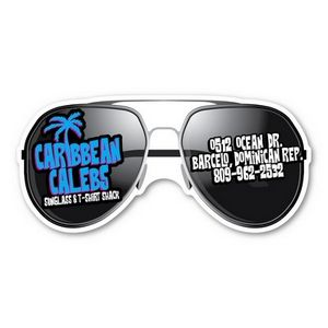 Custom Printed Sun Glasses Stock Shaped Magnets