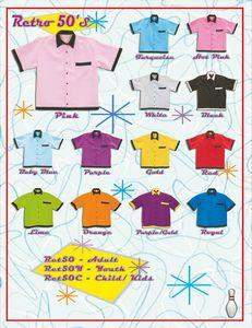Custom Printed Retro Bowling Shirts