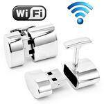 Custom Wi-Fi And 2 GB USB Drive Combination Cufflinks