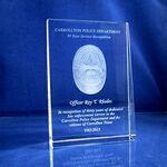 Custom Optical Crystal Vertical Wedge Plaque (5