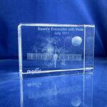 Custom Optical Crystal Beveled Rectangle Award (3 1/4