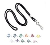 "Round 1/8"" (3 mm) Lanyard with Nickel Plated Swivel Hook (Blank Product)"