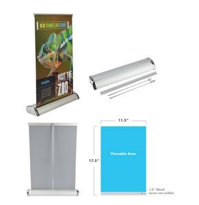 Table Top Retractable Banner Stand 11.5x17.5 - 24 Hr Service