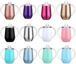 Custom 10oz Stainless Steel Vacuum Double Wall Insulated Cup Double Handles Tumbler
