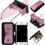 Custom Virtual Reality viewer cell phone case and phone stand all in one