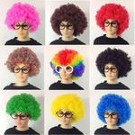 Custom Festival Afro Crazy Fan Wig