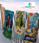 Custom 30x60 Full Color Cotton/Microfiber Edge to Edge Printed Beach Towels, 11.0 Lbs/ Dz. by Subli Mate