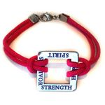 Custom Square Awareness Bracelet w/ Customized Message